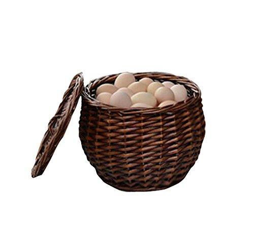 Natural FruitsEggsVegetables Storage Basket with Lid Home Organizer