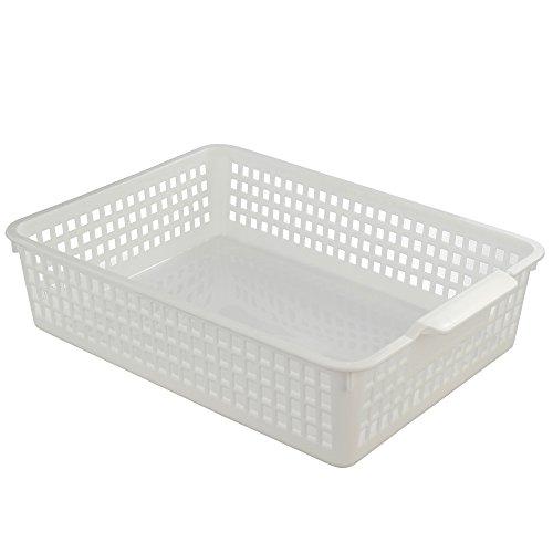Fiaze Desktop Plastic Storage Trays Baskset Organization 3-Pack