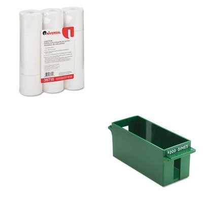 KITMMF212071002UNV35715 - Value Kit - MMF Porta-Count System Extra-Capacity Rolled Coin Plastic Storage Tray MMF212071002 and Universal Adding MachineCalculator Roll UNV35715