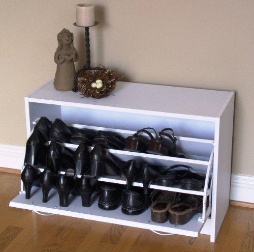 4D Concepts Deluxe Single Shoe Cabinet White