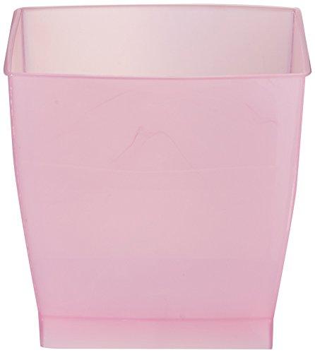 InterDesign Mono Wastebasket Trash Can for Bathroom Kitchen Office - Blush Pink
