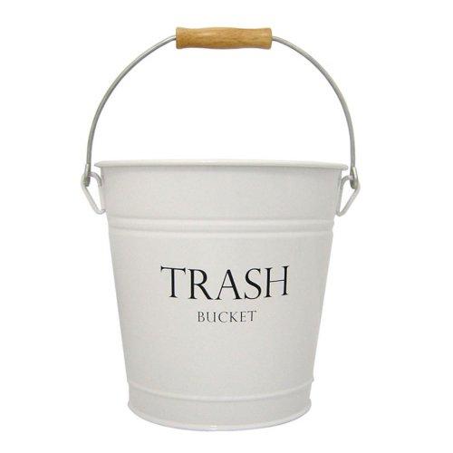 InterDesign Pail Wastebasket Trash Can White