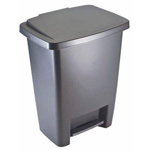 Rubbermaid Step-On Trash Can Wastebasket Gray 83 -gallon FG284187CYLND