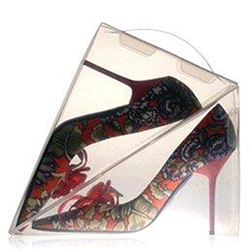 8 x Ladies Shoe Box Storage Display Shoe Organiser Dividers Transparent Plastic Clear