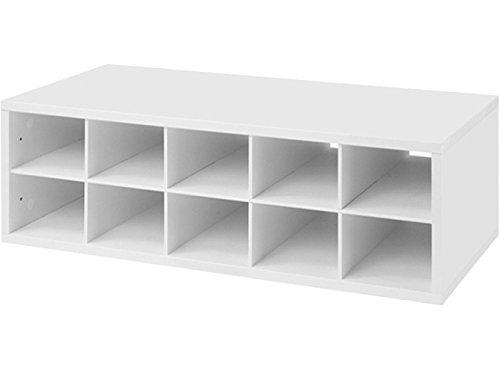 Organized Living freedomRail 10-Cubby Shoe Storage Big OBox - White