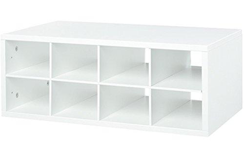 Organized Living freedomRail 8-Cubby Shoe Storage OBox - White