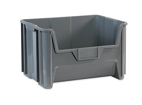 RetailSource BING112-1 19 78 x 15 14 x 12 716 Gray Giant Stackable Bin