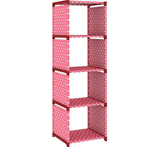 MAXGOODS 4-Shelf Bookcase Storage Closet Organizer Toy Rack Shoe Case Shelf