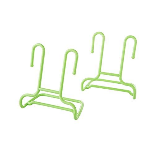 Ill NEVER BE HER 2PcsSet Multi Function Shelf Drying Rack Shoe Rack Stand Hanger Children Kids Shoes Hanging Storage Wardrobe Organizer02