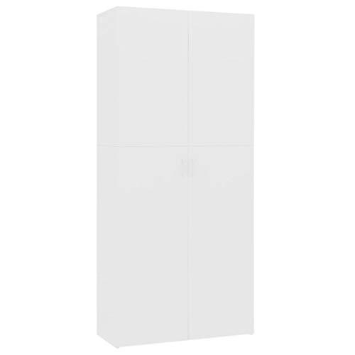 Unfade Memory Shoe Cabinet Shoe Rack with Door Shoe Storage Organzier Tower for Bedroom Hallway Chipboard White