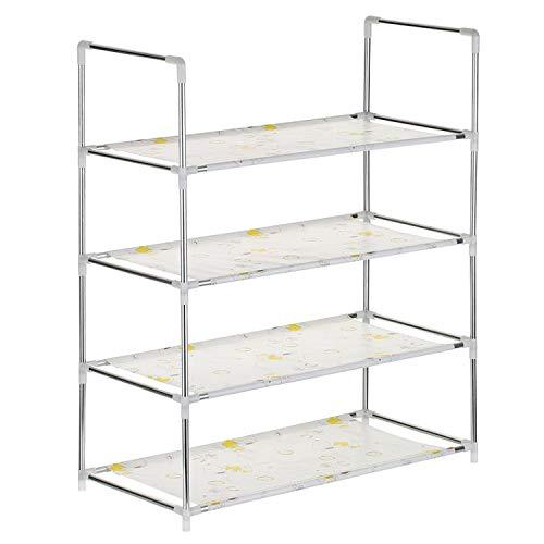 Multifunctional 456 Tier Shoe Racks Shelf Cabinet Large Stackable Shelves Holds Shelf for Shoe Book Home Storage OrganizerMixed Color