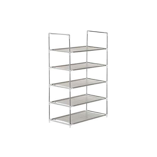 Shoe RackMultifunctional 456-Tier Shoe Racks Shelf Cabinet Large Stackable Shelves Holds Shelf for Shoe Book Home Storage Organizer5-Tier Grey
