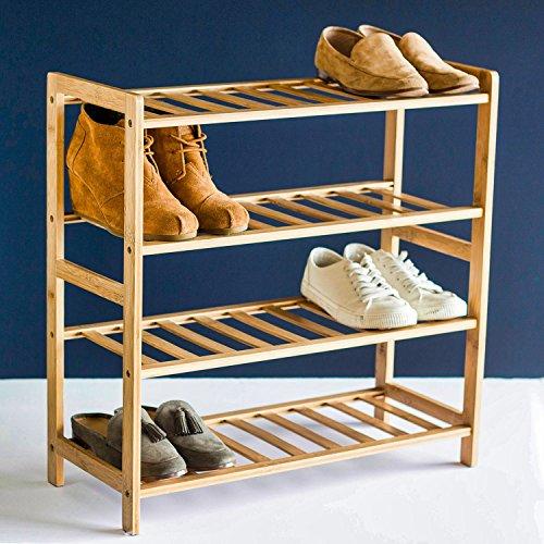 STNDRD Bamboo Shoe Rack Organizer 1-Pack