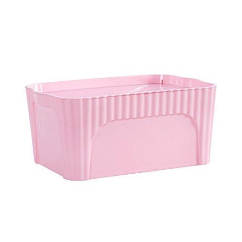 1 Pcs Storage Box Plastic Toy Storage Wardrobe Clothes Underwear Organization Oragnizer Case 318x215x14cm Pink
