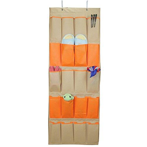 Shoe Rack Over The Door Hanging Closet Shoe Organizer System With 20 Exta Large Pockets Shoe Bag