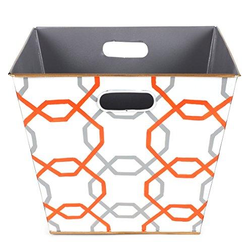 Jayes Studio T16-ORG-RBT Squares Storage Bin Orange