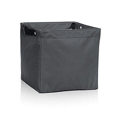 Thirty One Square Storage Bin in Black Twill Stripe - No Monogram - 4437