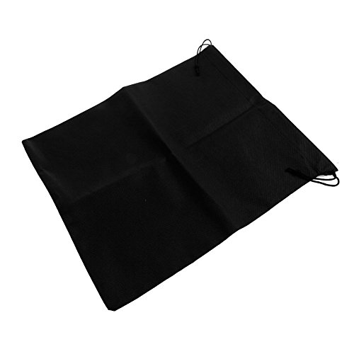 Hunulu Home Laundry Shoe Travel Portable Pouch Drawstring Tote Storage Bag Organizer black