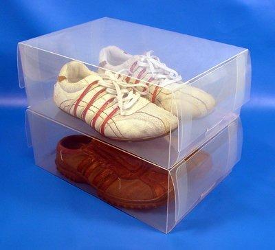 15 men clear shoe storage boxes-interlock design by TallerHeels
