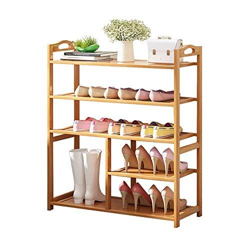 Shoe Racks YXX Bamboo Shoe Boots Rack with Armrest Large Shoe Storage Organizer Shelf for Entryway Hallway Living Room Size  100x24x87cm