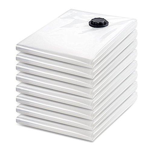 Tiergrade Vacuum Storage Bags 8 Pack Premium JUMBO Clothes Bedding Storage Vacuum Sealer Bags with Hand Pump