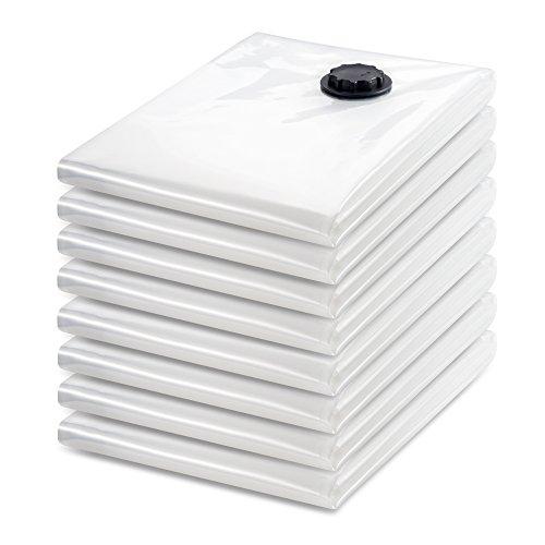 Tiergrade Vacuum Storage Bags 8 Pack Premium JUMBO Triple Seal Turbo Valve Clothes Bedding Storage Vacuum Sealer Bags with Hand Pump