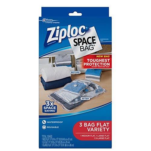 Ziploc Space Bag 3ct Combo Pack 1 Medium Flat 1 Large Flat 1 XL Flat