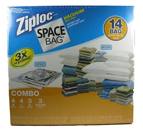 Ziploc Space Bag Vacuum Seal Bags 14 Bag Variety Pack