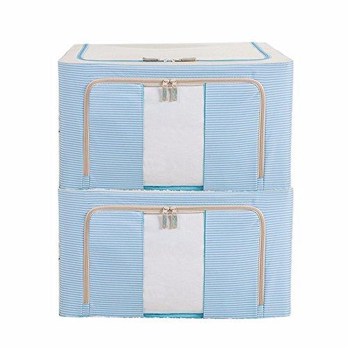 Clothes storage bins extra large Oxford cloth waterproof tide locker 66L-piece Comforter storage bag chestBeige dog