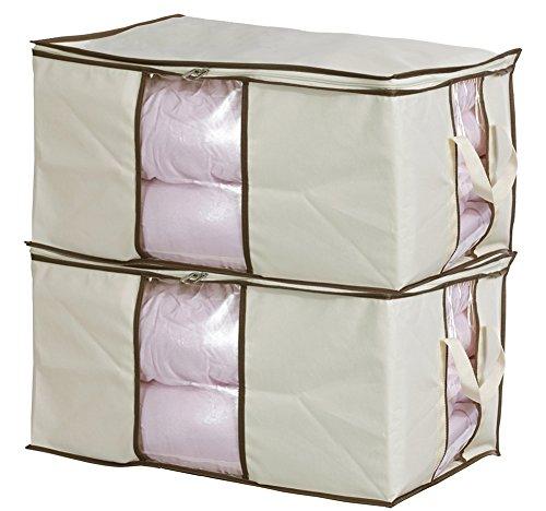Misslo Zippered Storage Bag for Closet Comforter Clothes Blanket Space Saver