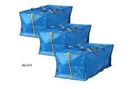 Ikea Frakta Storage BagExtra Large - Blue -- SET OF 3