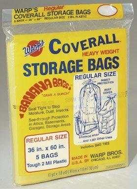 Warp Brothers CB-36 Banana BAG 5 - 36x60 Regular Storage Bags