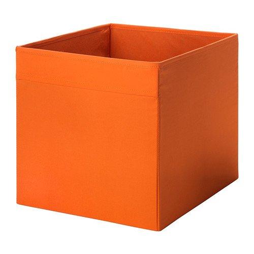 Ikea Drona Fabric Storage Box 13x15x13 Organizer Orange