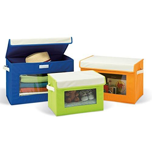 Seville Classics Fabric Storage Box Set 3-Pack