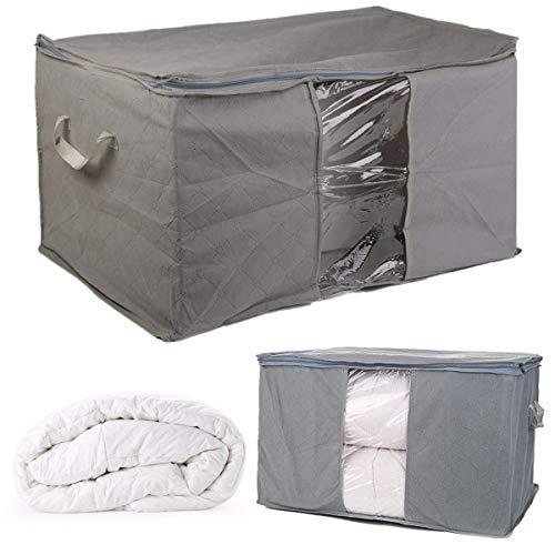 Foldable Large Bedding Storage Bag Organiser for Pillow Clothes Quilt Bedding Duvet Blanket Under Bed Storage Organizer Box