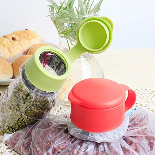 4U-Lucky Useful Plastic Food Storage Kitchen Airtight Sealer Reusable Bag Cap