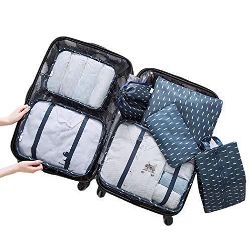 lantusi Durable Portable Print Zipper Closure Storage Bag Travel Storage Bag Space Saver Bags