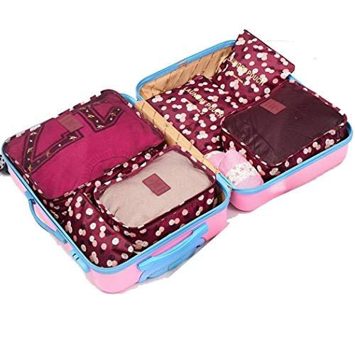 wumedy Travel 6pcsPack Storage Bag Clothing Personal Items Storage Bag Space Saver Bags