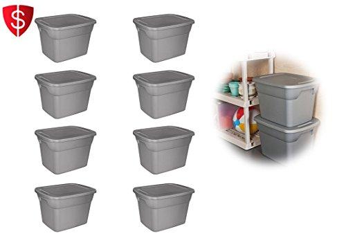 NEW Plastic Storage Container Sterilite Stackable Box 18 Gallon Tote Case Bin 8Set