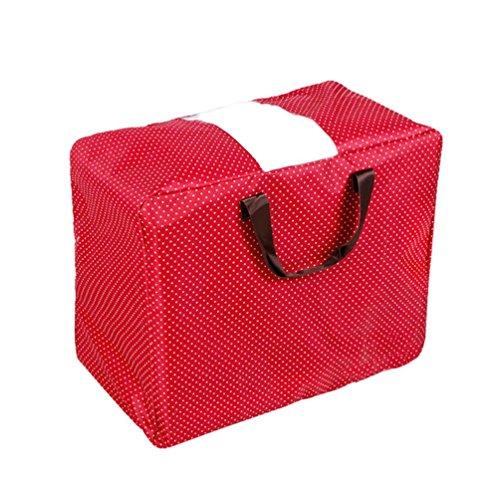 Oksale Clothes Makeup Storage Bag Waterproof Oxford Cloth Large Space Saver BagVintage Floral Laundry Shopping Storage Bag House Storage Organizer  Reusable Bags Zipped  55 x 36 x 20CM E