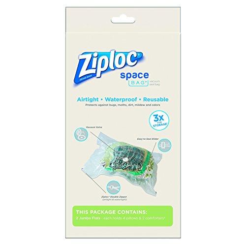 Space Bag 2 Jumbo Vacuum Seal Storage Bags Each Clear 35 X 48