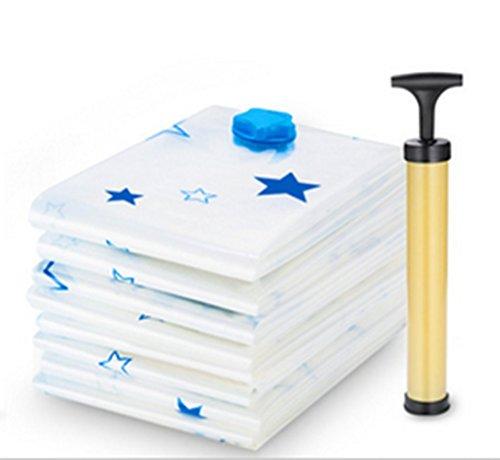 Wnnideo Vacuum Space Saver Storage Bags Various Size Pack of 4 Free Vacuum Hand Pump 70×50cm