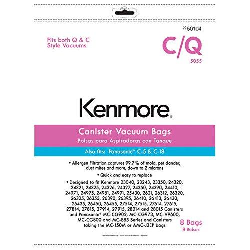 Kenmore Canister Vacuum Bag for C Q Panasonic C-5 C-18 8 pk