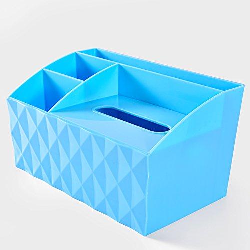Multifunctional paper towel box remote controller storage boxblue
