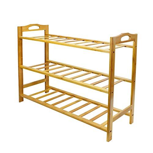 Cyanbamboo Shoe Rack Bamboo Multi Layer Entryway Shoe Shelf Rack Living Room Storage Rack Shoe Organizer