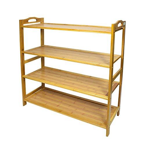Cyanbamboo Shoe Racks Bamboo Entryway Flat Shoe Rack Shelf Living Room Shoe Organizer Storage Shelf