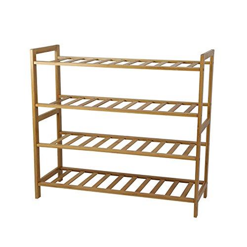 Smart-Home 4 Tiers Bamboo Free Standing Entryway Shoe Rack Shelf Storage 2675L x 275W x 1025H