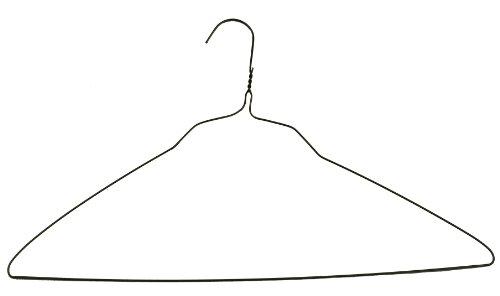 100 Standard Knit Gold Wire Shirt Hangers 20 Inch 14 Gauge
