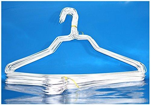 BriaUSA 100 Standard Hangers 18 Inch 13 Gauge White Wire Hangers Clothes Hangers