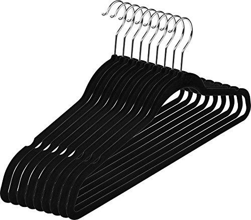 Premium Velvet Suit Hangers - 50 Pack - Heavy Duty - Non Slip - Velvet Suit Hangers Black - by Utopia Home